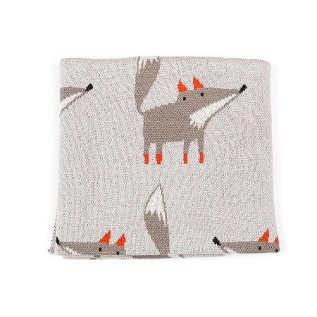 Indesign Freddy Fox Baby Blanket