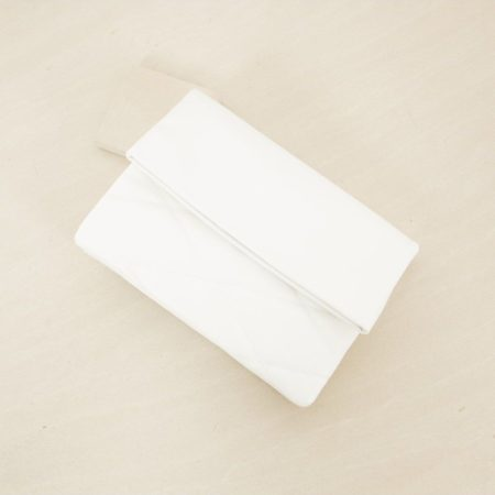Penny Lane Quilted Clutch White