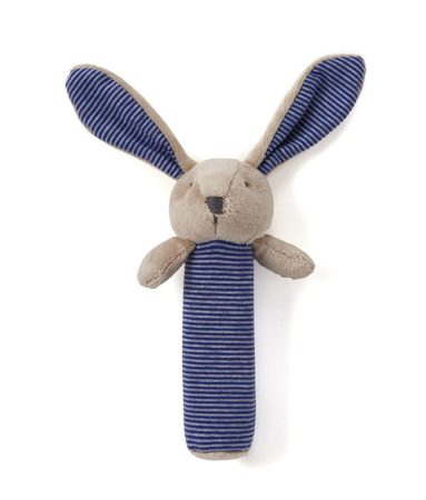 Bunny Baby Rattle-Blue