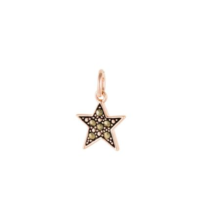 Star Marcasite Charm 18K Rose Gold Plated