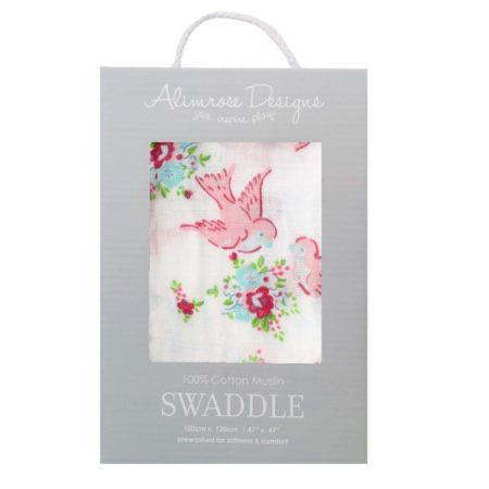 Single Swaddle - Sweet Bird Floral