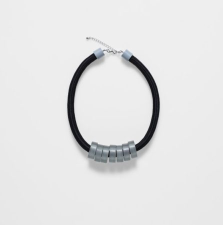 Chunky Bead Rope Necklace - Artic