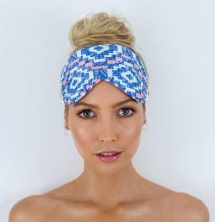 Chloe Eye Mask in Aztec