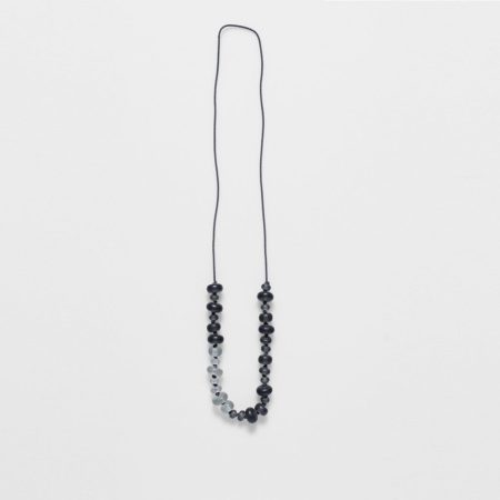 Frosted Long Necklace Slate Arctic Blue