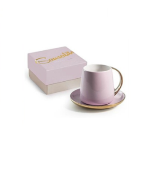 Boxed Gold Rim Cup and Saucer