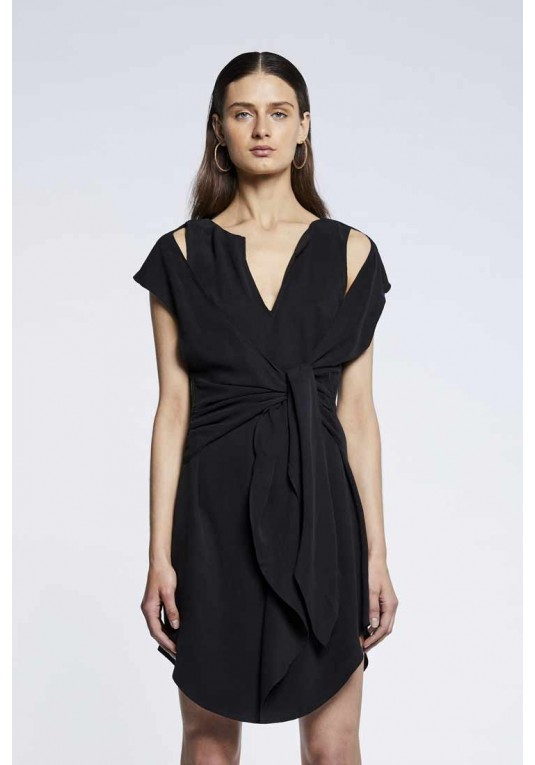 Vista Drape Detail Dress