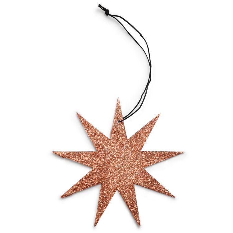 9 Point Glitter Star Ornament