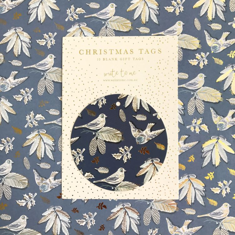 Joyful Birds Christmas Tag Pack