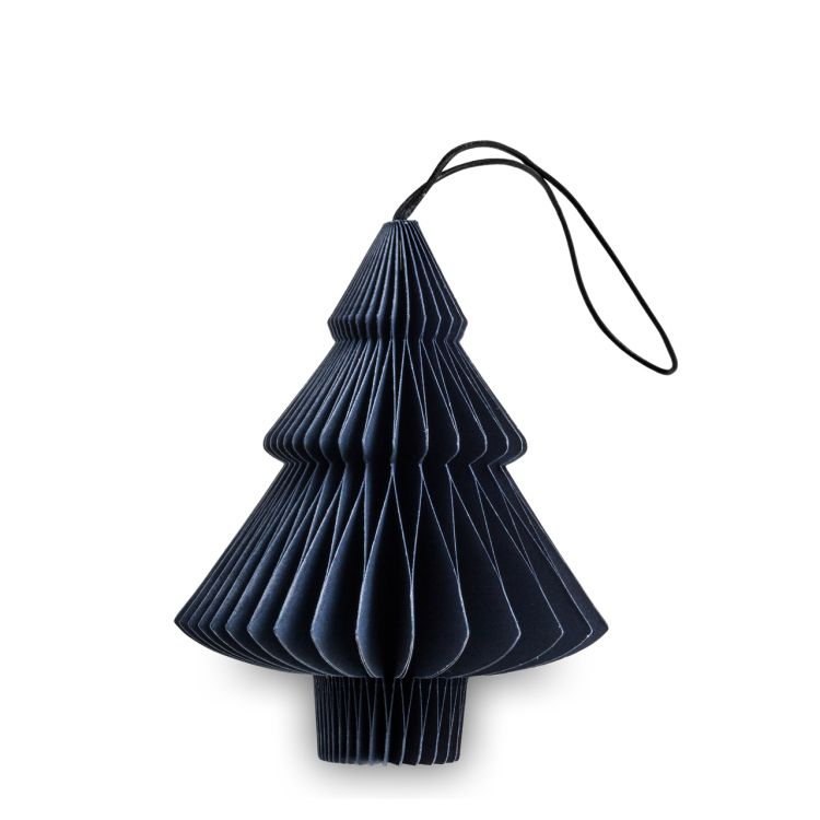Blue Paper Tree Ornament