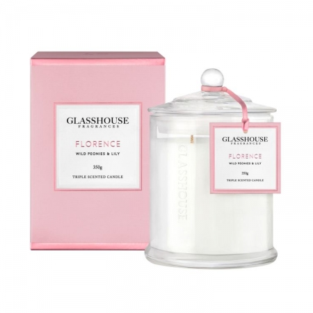 Florence Wild Peonies & Lily Scented Candle 350g