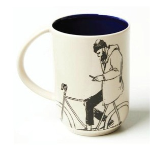 guy on bike mug