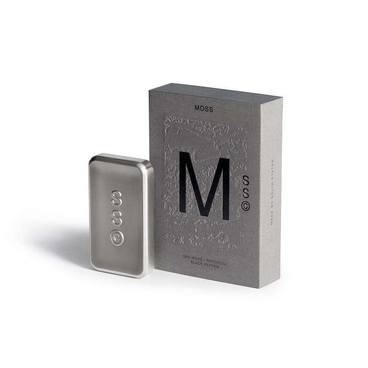 Solid State pocket size mens colognes - Moss - Black Pepper, Oak Moss and Patchouli