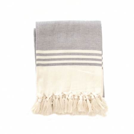Organic cotton beach towel - Coal