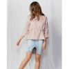Kalia waist tie blouse in blush front