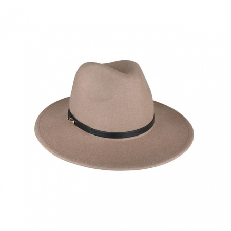 Clay felt fedora with PU band