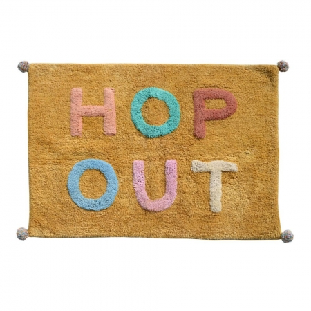Henri hop out bath mat - dandelion