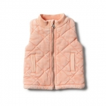 Strawberry quilted vest