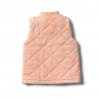 Strawberry quilted vest back