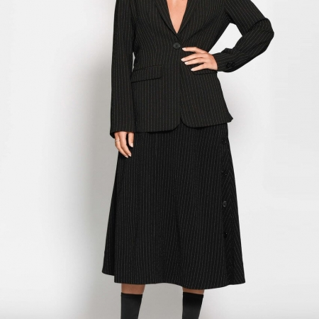 marsh jacket black - midi skirt