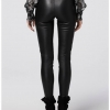 black leather pant - back