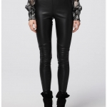 black leather pant - front