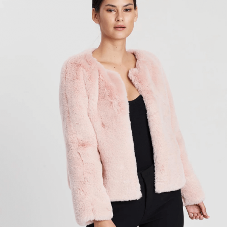 blush pink glory coat