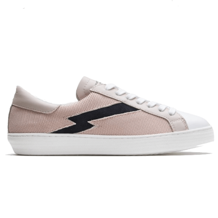 alice pink with black sneakers