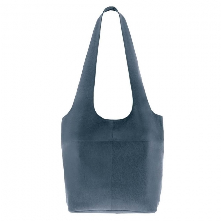 sorell soft leather bag in steel color