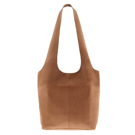 sorell soft leather bag in tancolor
