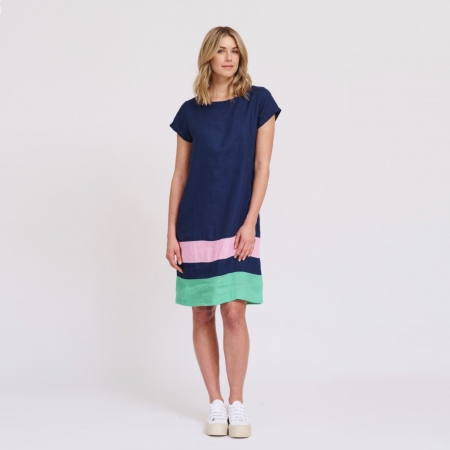 Connie dress in nautical