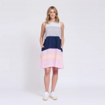 Lenna dress in ice and fanta front