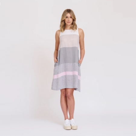 Lenna dress in white