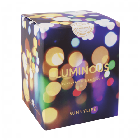 luminous scented candle