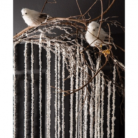 Holiday Christmas bird with snow asst set of 4