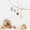Holiday hanging glass bauble