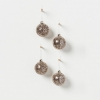 Holiday hanging glass bauble- sequin and silver