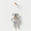North Pole hanging koala boy with champagne bow wall hanging