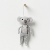 North Pole hanging koala boy with silver bow on wall