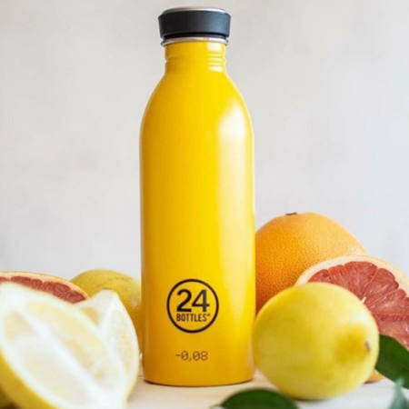 24 insulated bottle in taxi yellow