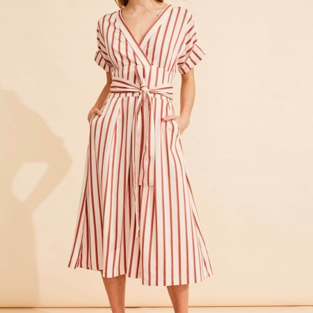 laguna dress stripe