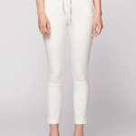 Morphic stretch faille slim fit pant-ivory front