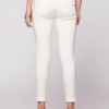 Morphic stretch faille slim fit pant-ivory back