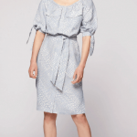 Morphic tie sleeve button dress_pollen cloud