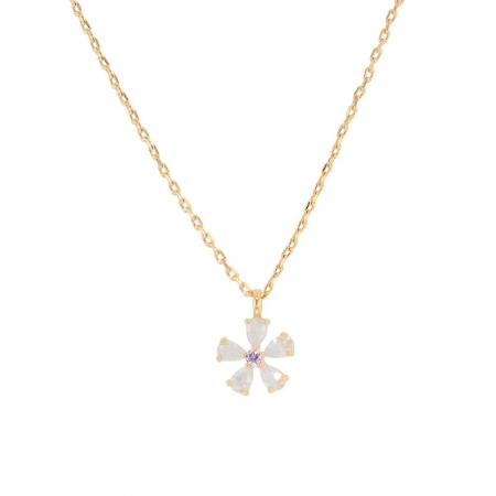 Eileen crystal flower necklace