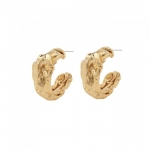Frankie chunky gold plated hoops