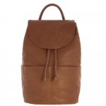 Bonnie drawstring leather backpack - Tan