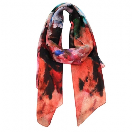 Juniper digital print silk scarf_1