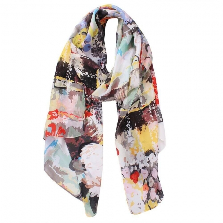 scarf - Lila abstract garden print