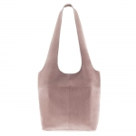 sorell soft leather bag in blush color