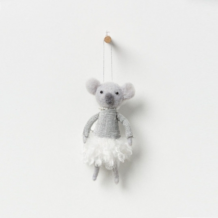 North Pole hanging koala girl with pearls
